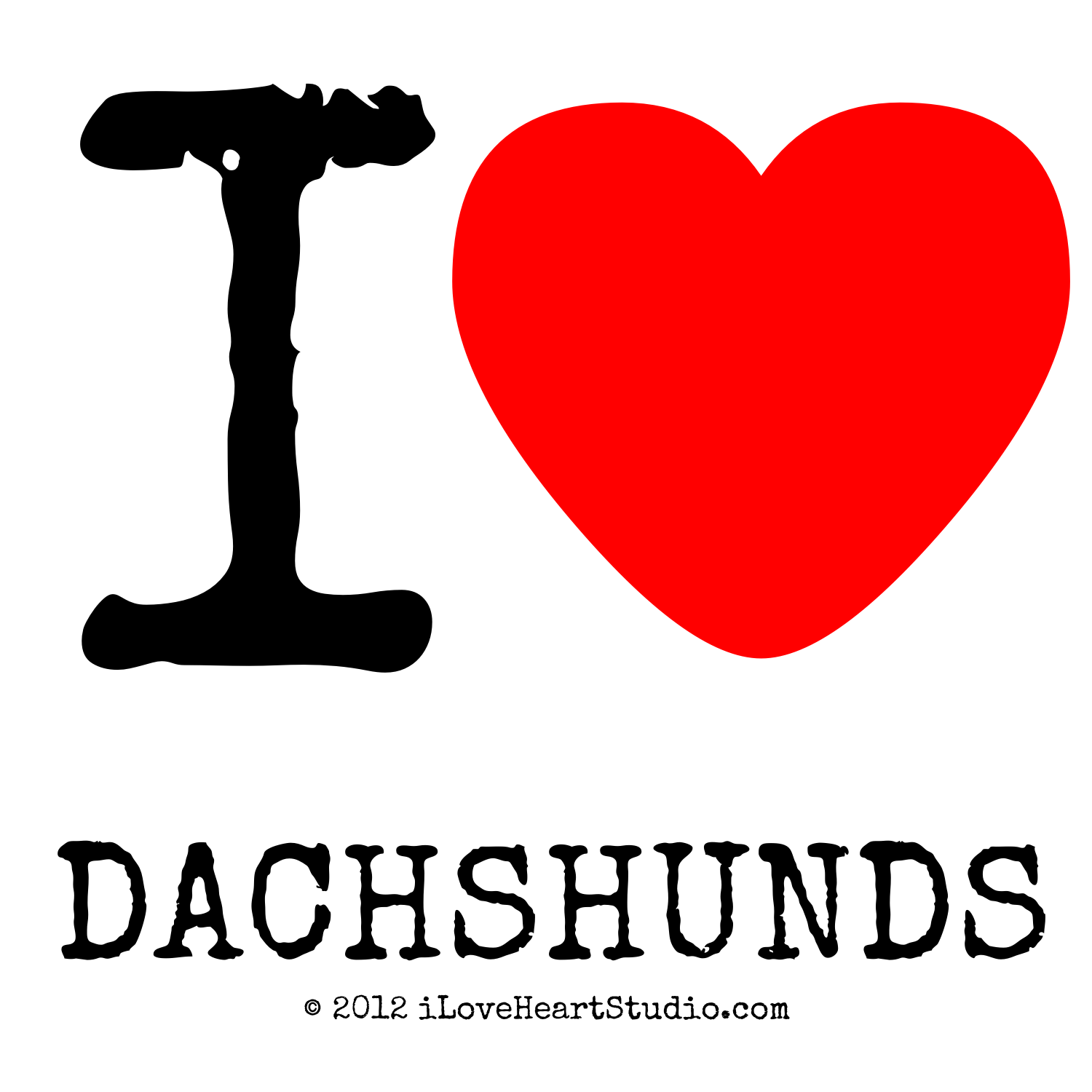 I Love Dachshunds PNG