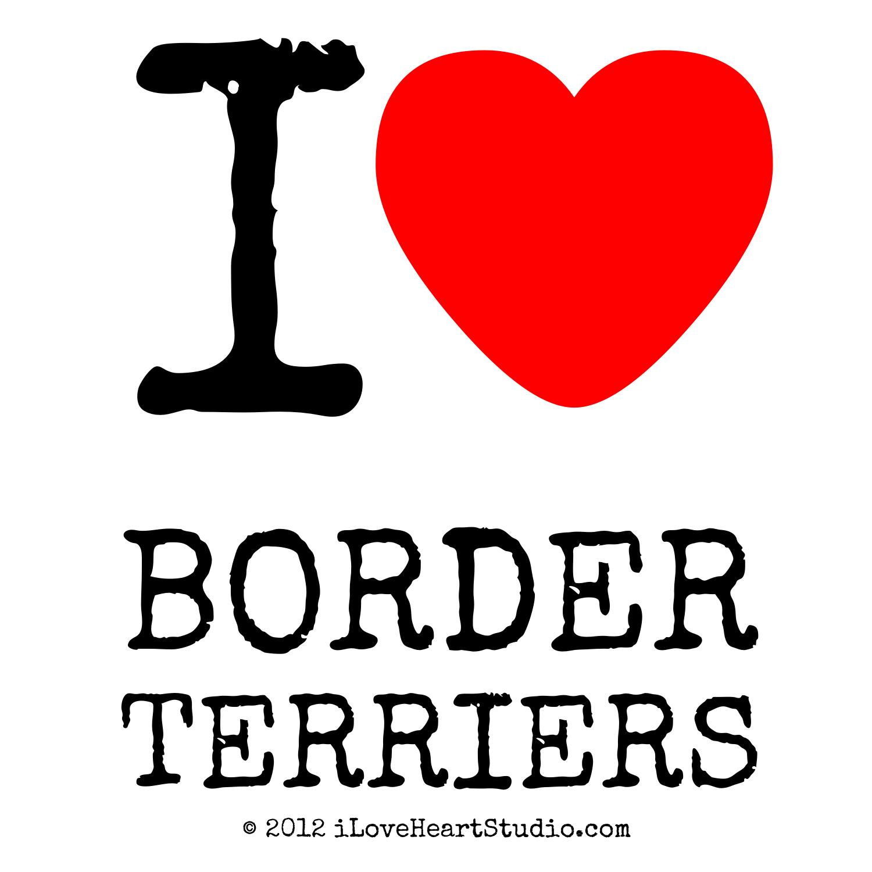 I Love Heart Border Terriers Design On Poster Mug T