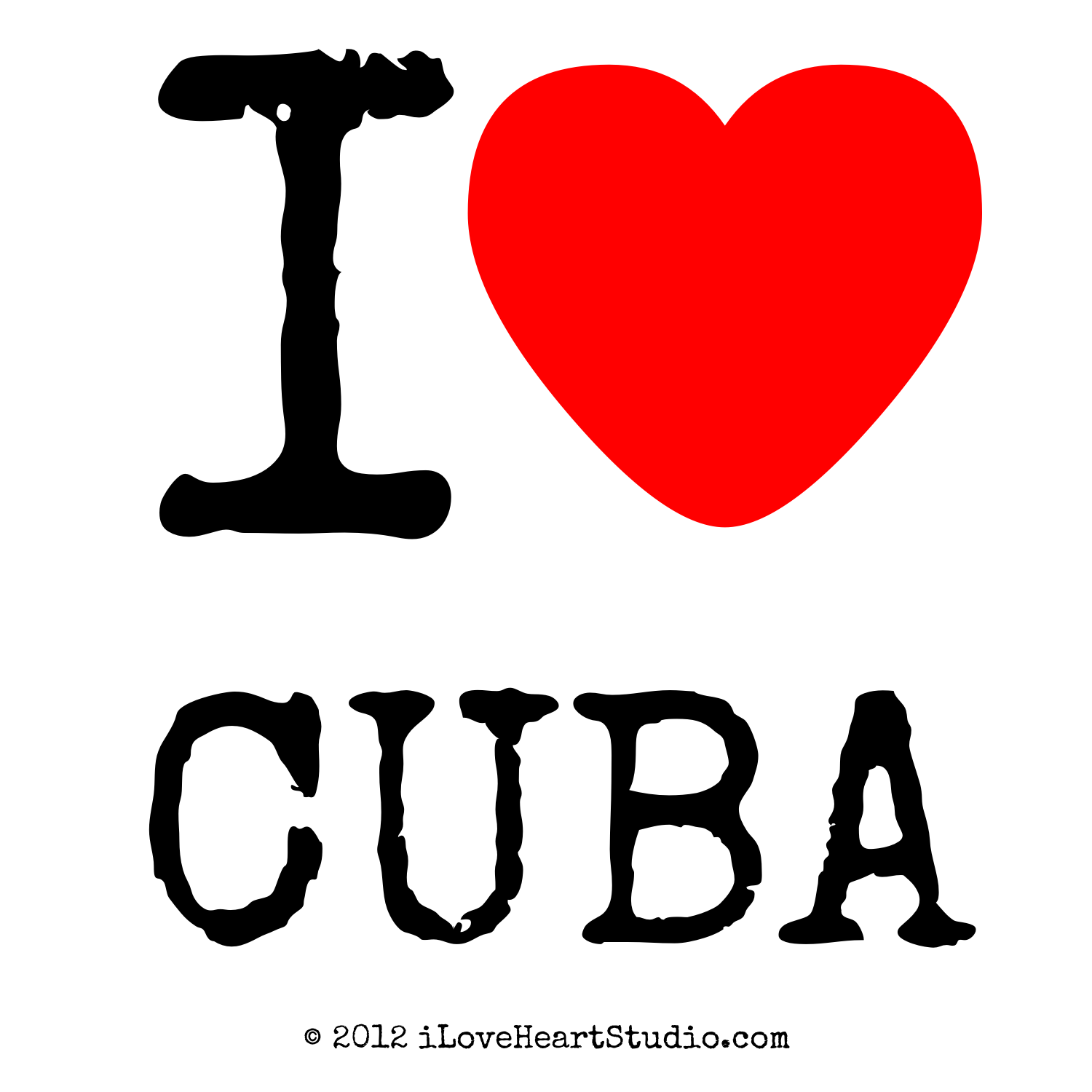 Kitchen Colours And Designs I Love Heart Cuba Design On Poster Mug T Shirt And Many