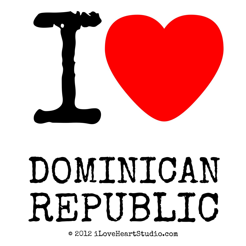 I Love Heart Dominican Republic Design On Poster Mug T