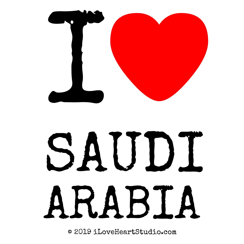 I Love Heart Saudi Arabia Design On Poster Mug T shirt