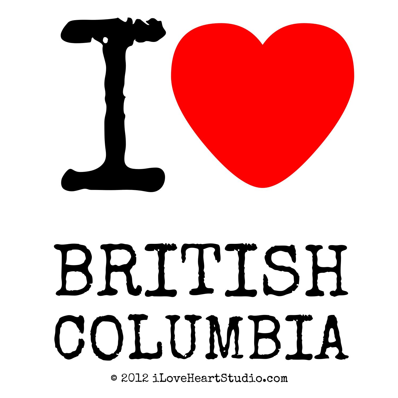 I Love Heart British Columbia Design On Poster Mug T