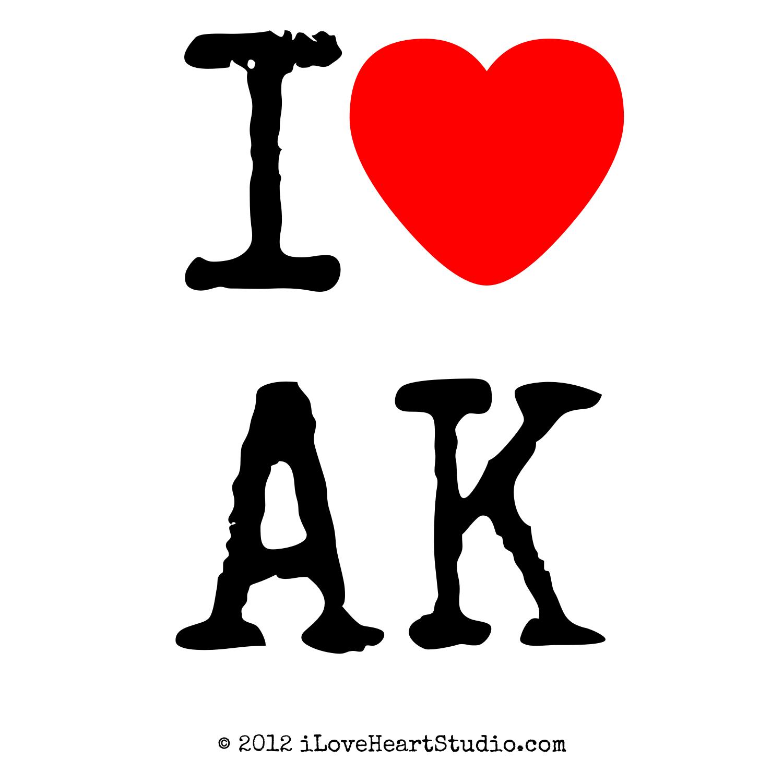 I Love Heart Alaska Design On Poster Mug T Shirt And