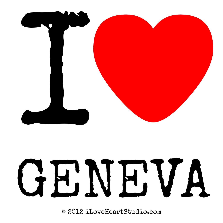 I Love Heart Geneva Design On Poster Mug T Shirt And