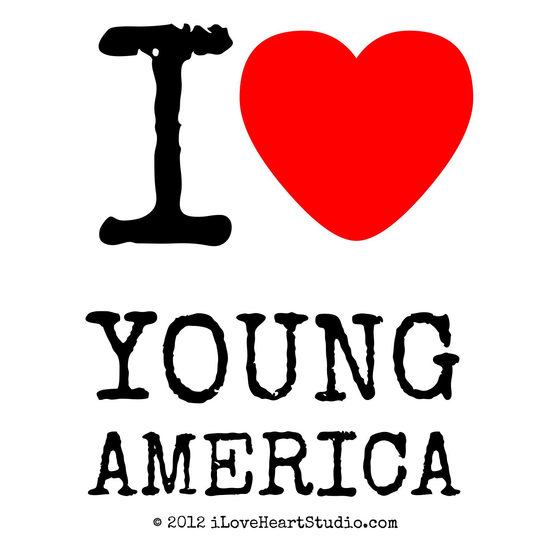 I Love Heart Young America Design On Poster Mug T Shirt