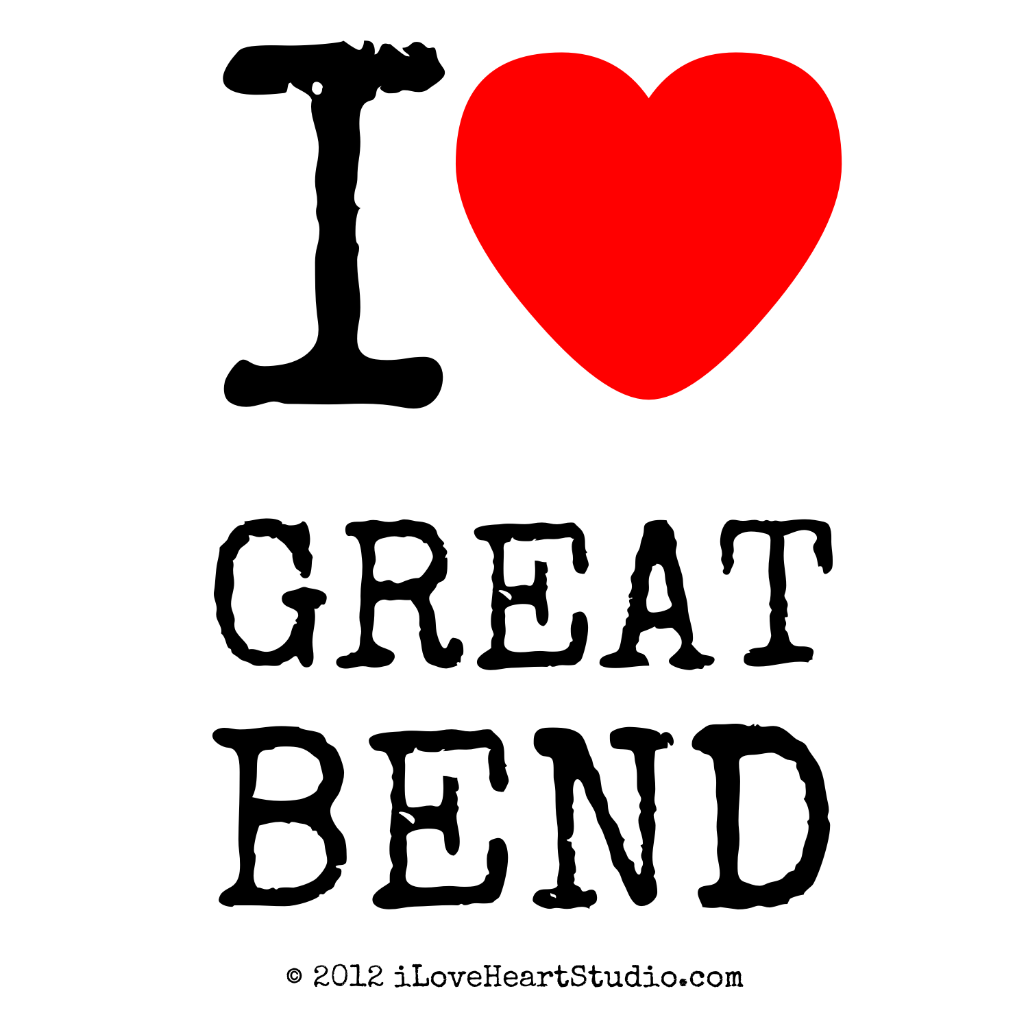 Great Bend (KS) United States  City pictures : Love Heart Great Bend design on poster, mug, t shirt and many more ...