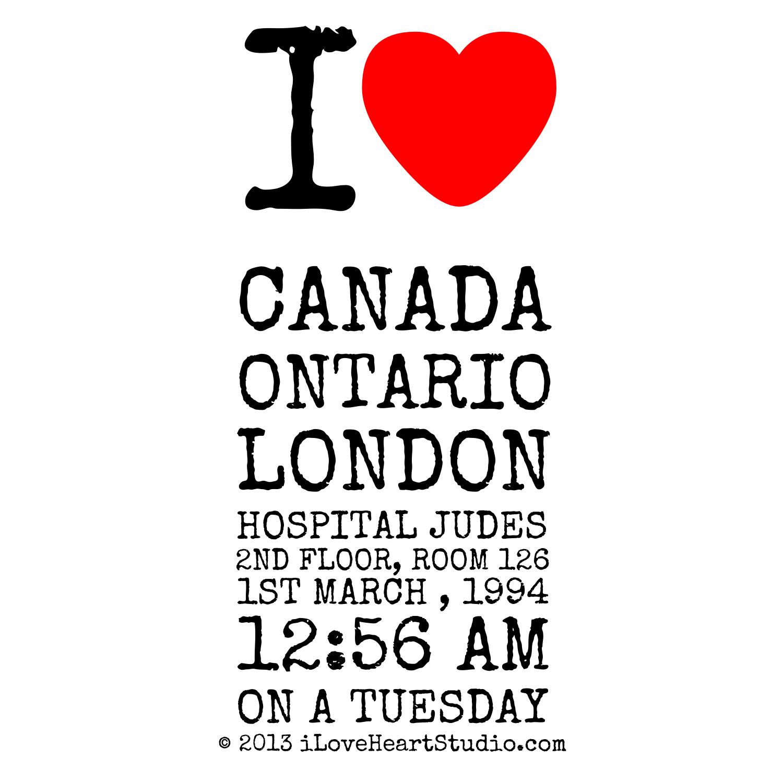 Shirt design london ontario - I Love Heart Canada Ontario London Hospital Judes 2nd Floor Room 126 1st