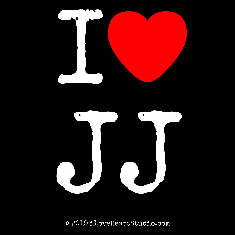 I Love Heart Jj Design On T Shirt Poster Mug And