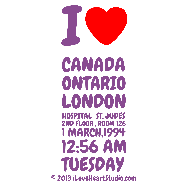 Shirt design london ontario - I Love Heart Canada Ontario London Hospital St Judes 2nd Floor Room