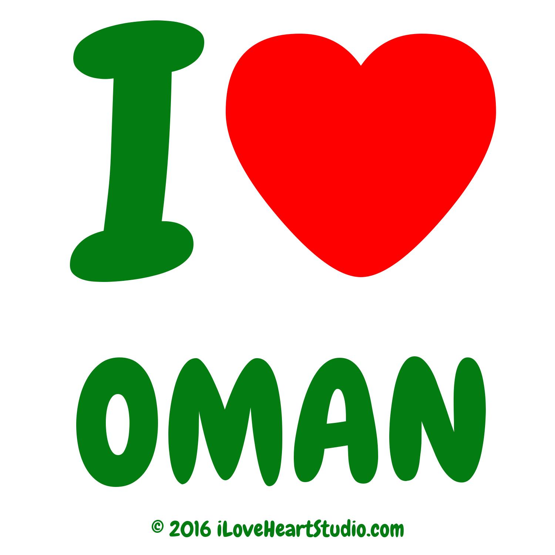 'i [Love heart] oman' design on t-shirt, poster, mug and ...