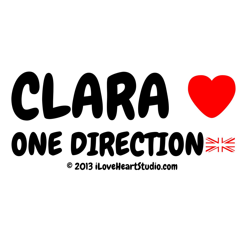 Design t shirt one direction - Clara Love Heart One Direction Uk