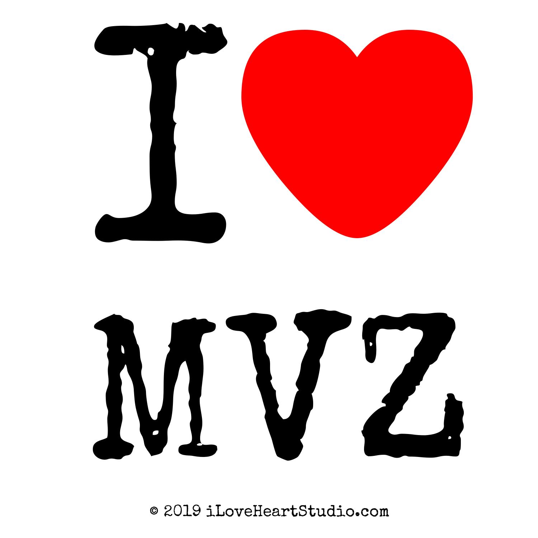 I Love Heart Mvz Design On T Shirt Poster Mug And