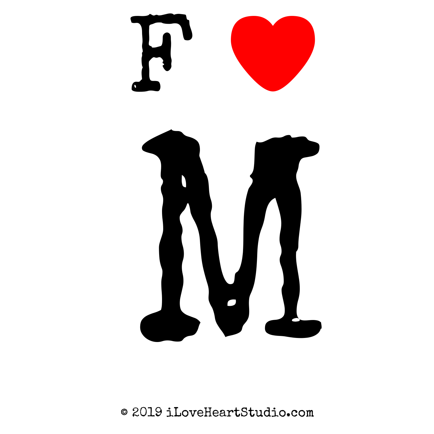 F love heart m design on t shirt poster mug and many other f love heart m thecheapjerseys Image collections