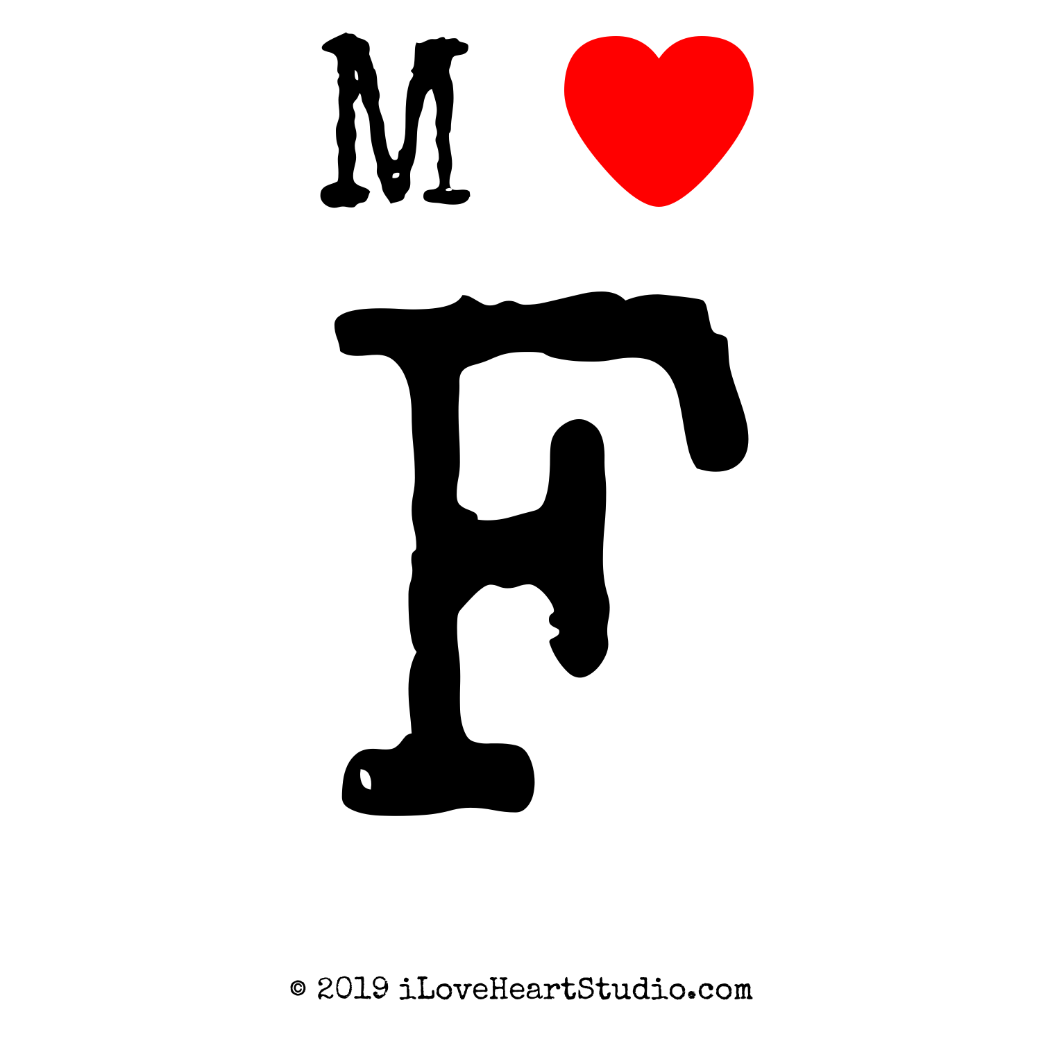 M love heart f design on t shirt poster mug and many other m love heart f thecheapjerseys Choice Image