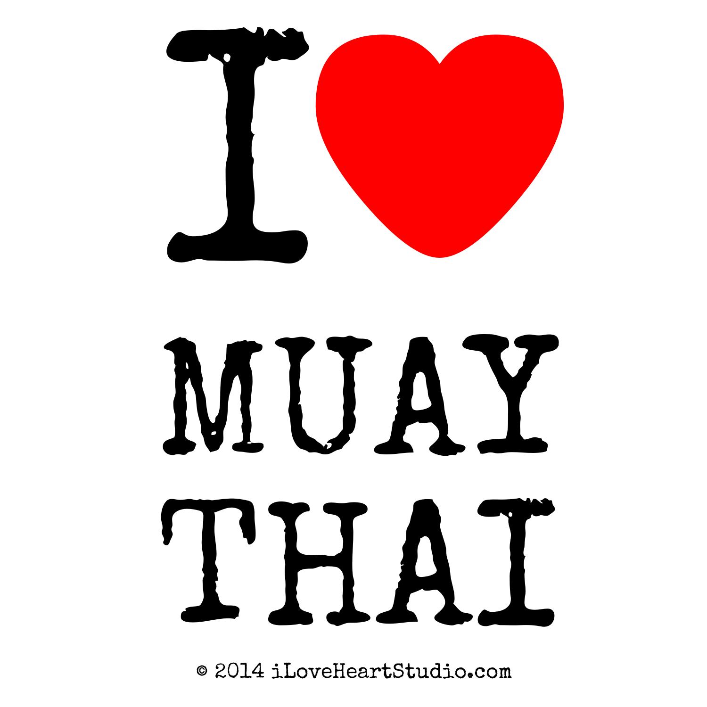 I Love Heart Muay Thai Design On T Shirt Poster Mug And Many