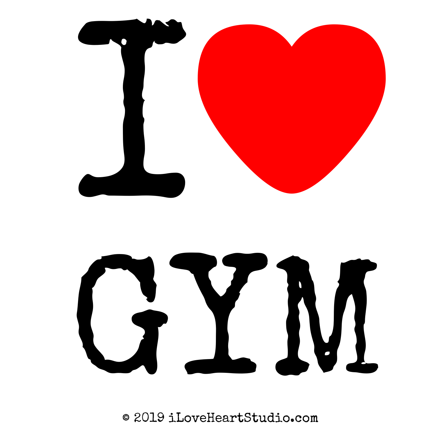I Love Heart Gym Design On T Shirt Poster Mug And