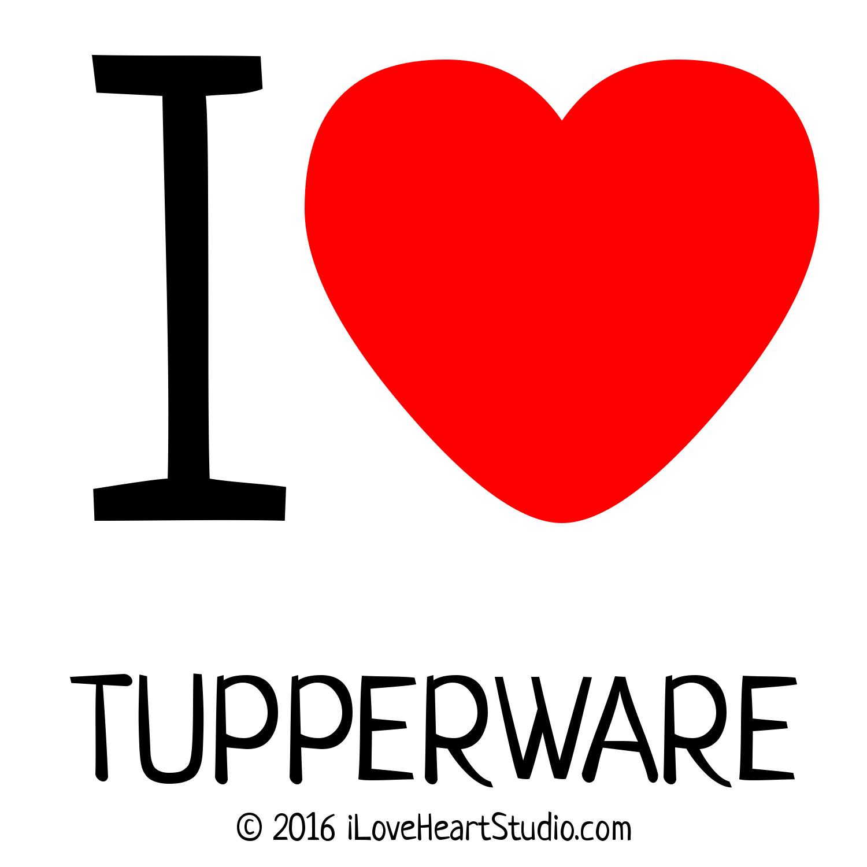 'i [Love heart] tupperware' design on t-shirt, poster, mug ...