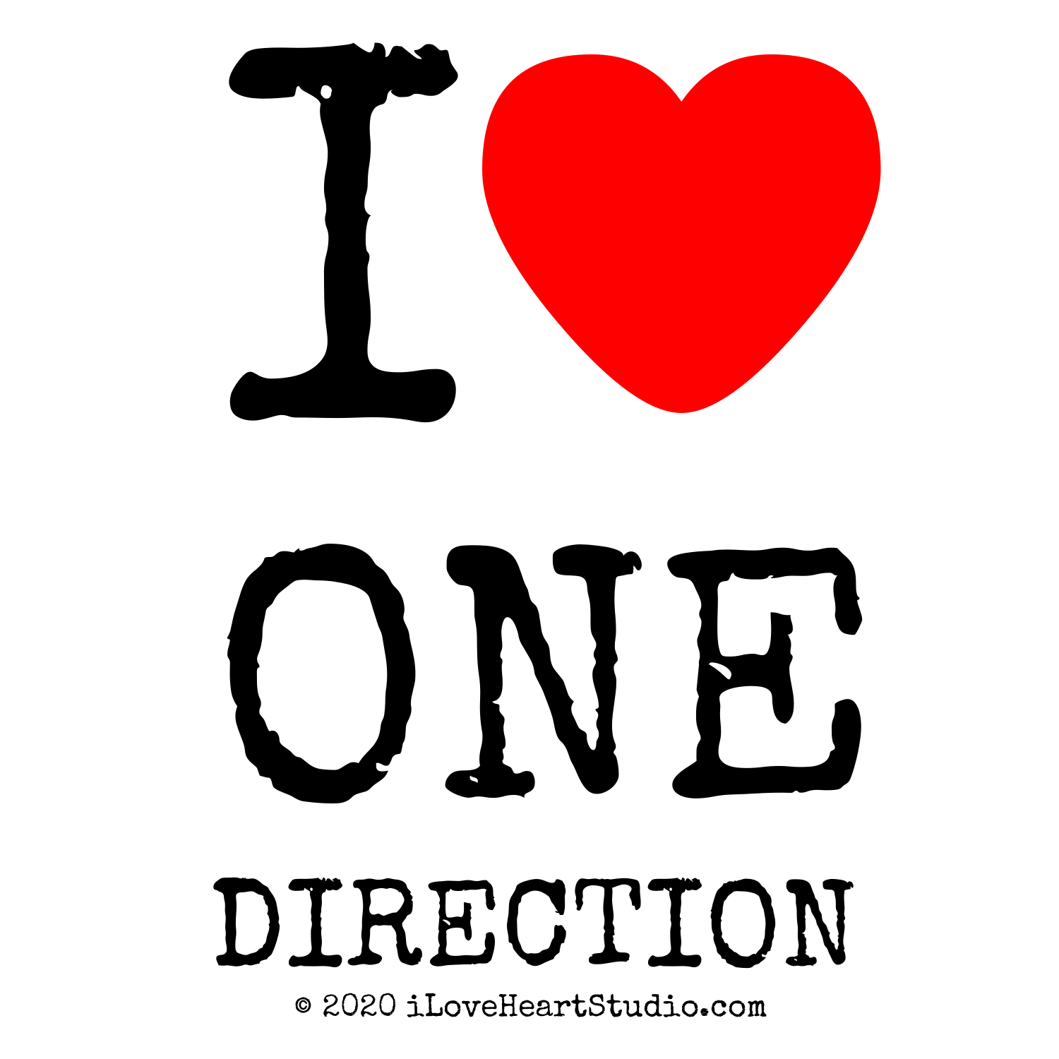 I Love One Direction Logo 'i [Love heart] one di...