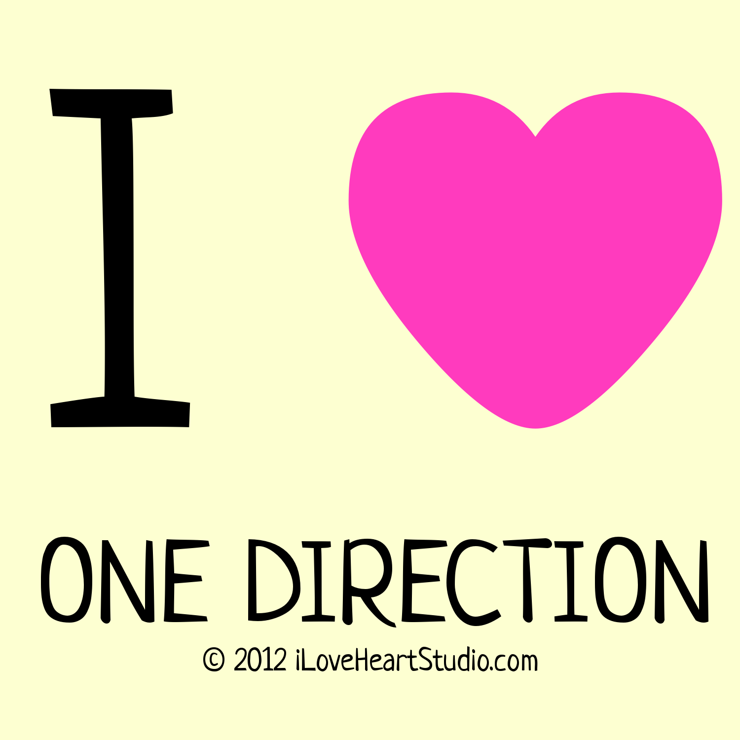 Design t shirt one direction - I Love Heart One Direction