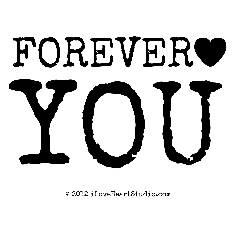 Forever Love Heart You Design On T Shirt Poster Mug