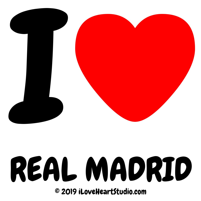 I Love Heart Real Madrid Design On T Shirt Poster Mug And Many