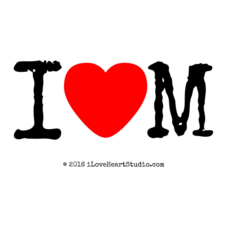 I Love Heart M
