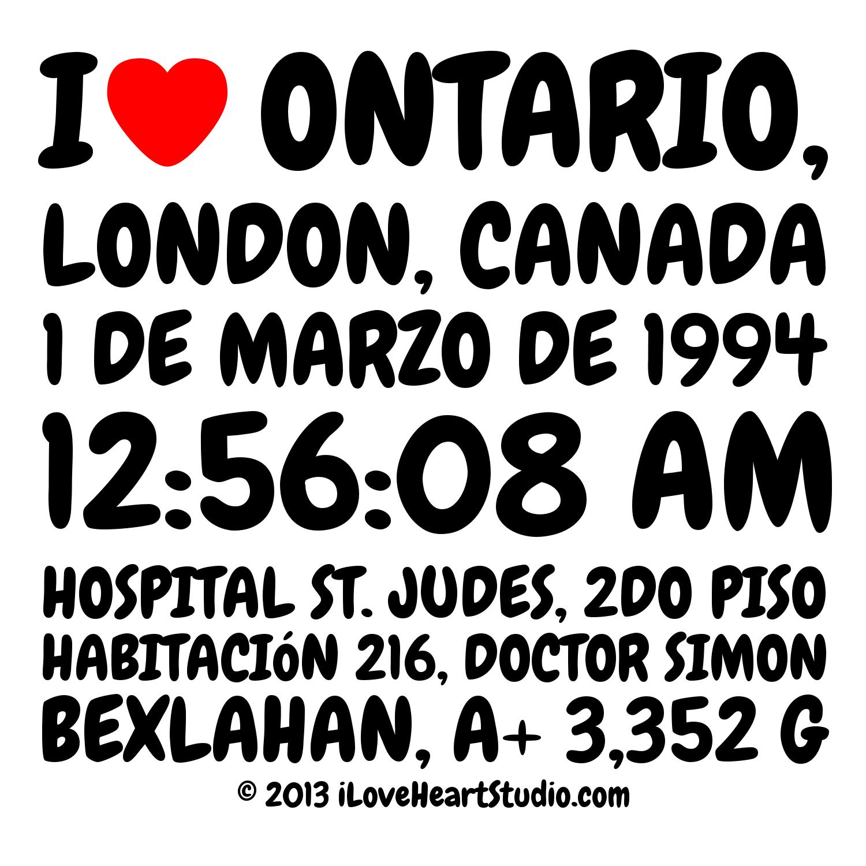 Shirt design london ontario - I Love Heart Ontario London Canada 1 De Marzo De 1994 12