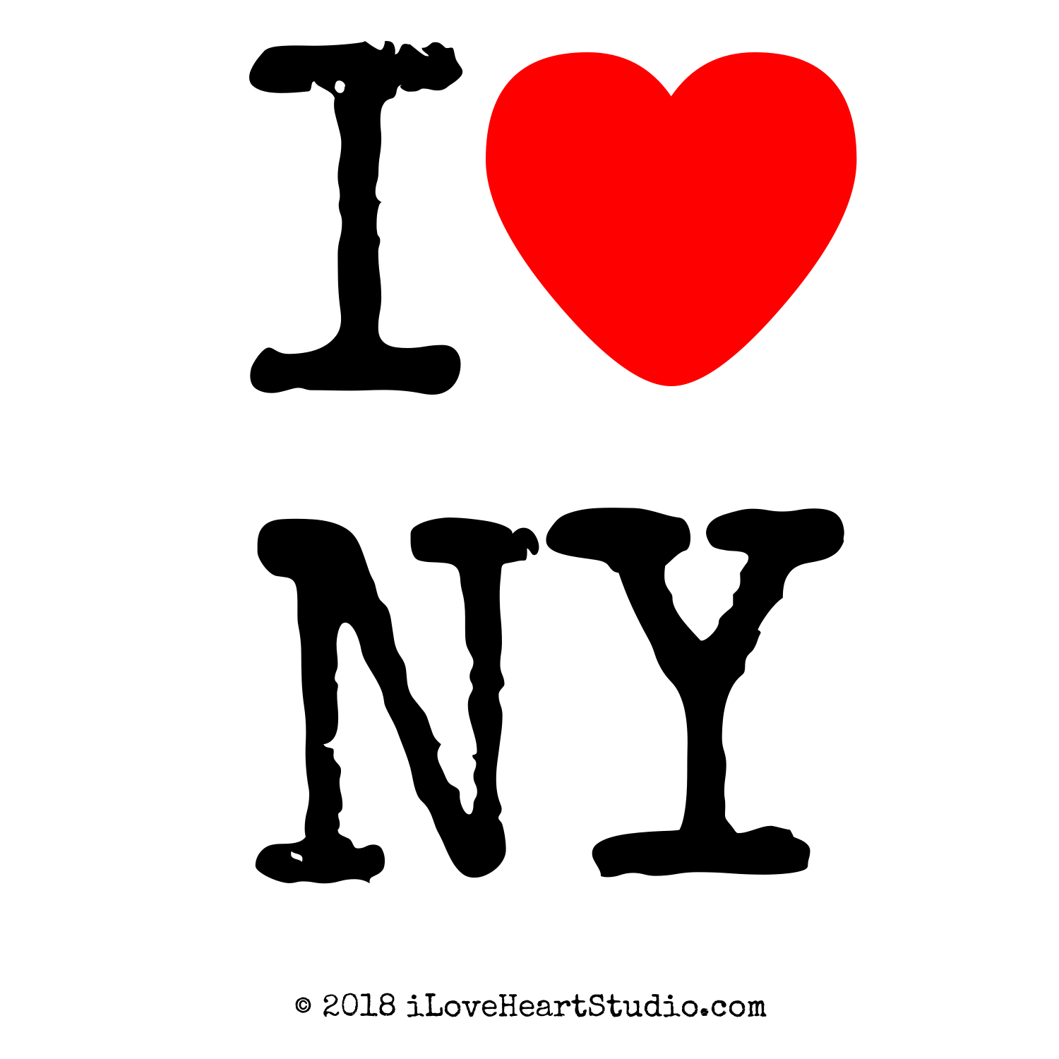 'i [Love heart] ny' design on t-shirt, poster, mug and ...