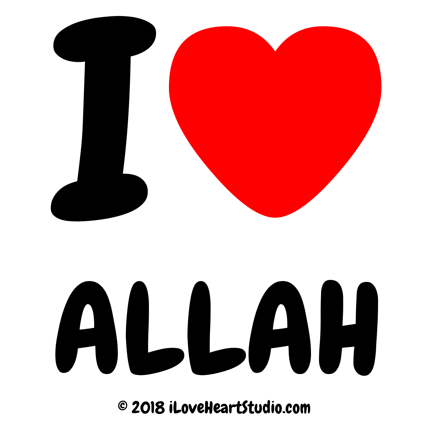 I Love Heart Allah Design On T Shirt Poster Mug And Many Other