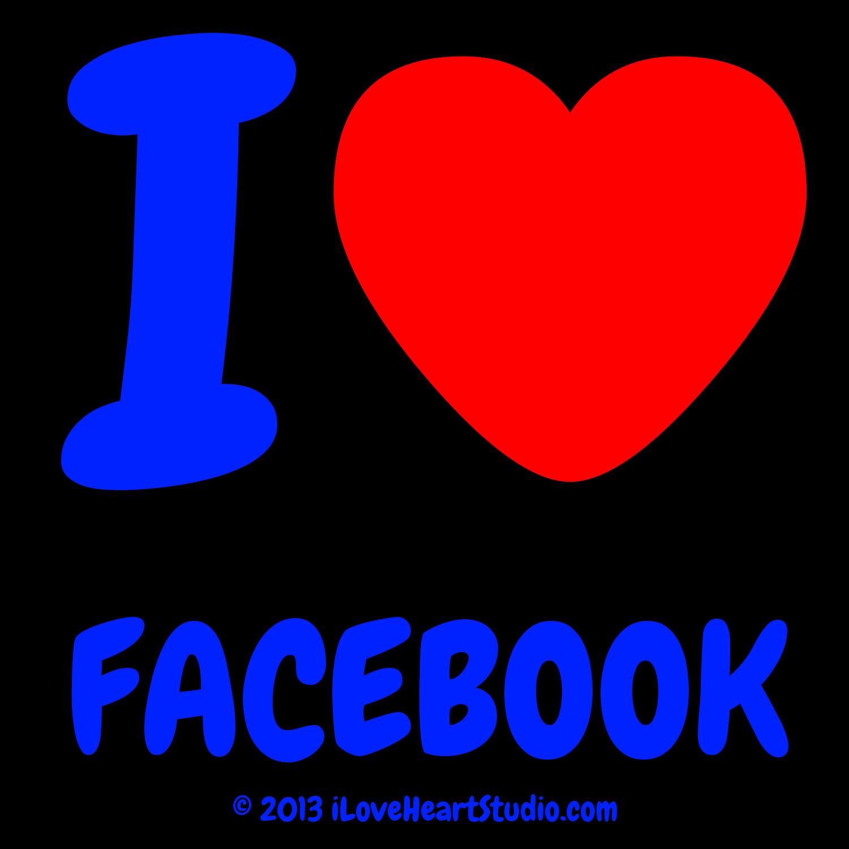 I Love Heart Facebook Design On T Shirt Poster Mug And Many