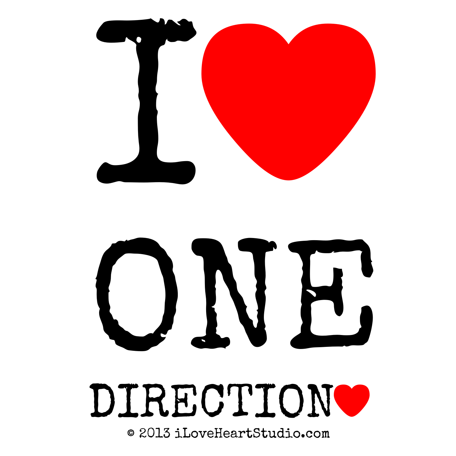 Design t shirt one direction - I Love Heart One Direction Love Heart