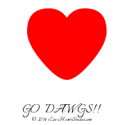 [Love Heart] Go   Dawgs!!