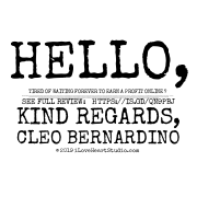 """Hello,  Tired Of Waiting Forever To Earn A Profit Online ?  My Name Is Cleo Bernardino And I'm Talking About A New Way To Generate Quick Traffic And Sales In Any Niche With Zero Video/website Creation, Zero Paid Advertising/seo.  I've Recently Tried This Product But Quickly Decide To Write This Review Because I Know This Is Exactly What You Are Looking For Your Iloveheartstudio.com  No Previous Skills Or Experience Required. You Can Literally Be A Complete Newbie And Get Results With Just 5 Minutes Of Actual """"work"""".. See Full Review:  Https://is.gd/qn9pbj Kind Regards, Cleo Bernardino"""