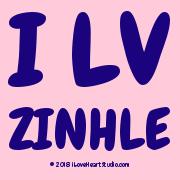 I L❤v Zinhle