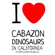 I [Love Heart] Cabazon Dinosaurs In California