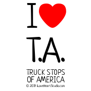 I [Love Heart] T.a. Truck Stops Of America
