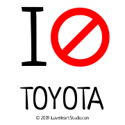 I [No Sign] Toyota