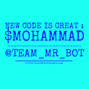 New Code Is Creat : $mohammad ------------------------- @team_mr_bot ..........................................................