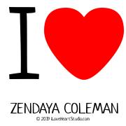 I [Love Heart] Zendaya Coleman