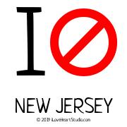 I [No Sign] New Jersey