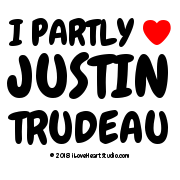 I Partly [Love Heart] Justin Trudeau