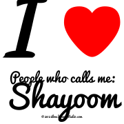 I [Love Heart] People Who Calls Me: Shayoom