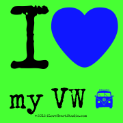 I [Love Heart] My Vw [Campervan]