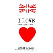 [UK Flag] I Love One Direction [Love Heart] Harry Styles