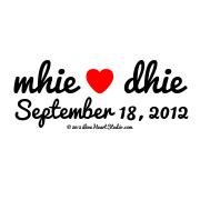 Mhie ♥ Dhie September 18, 2012