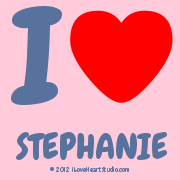 I [Love Heart] Stephanie