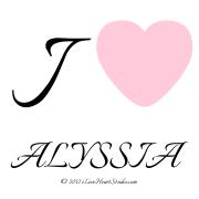 I [Love Heart] Alyssia