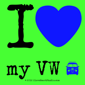 I [Love Heart] My Vw [Campervan]