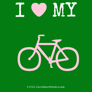 I [Love Heart] My  [Bicycle]