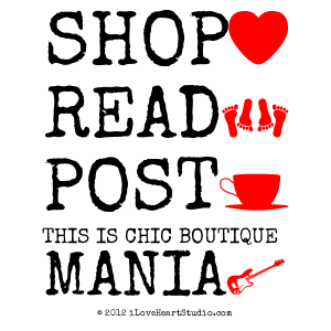 Shop [Love Heart] Read [Feet] Post [Cup] This Is Chic Boutique Mania [Electric Guitar]